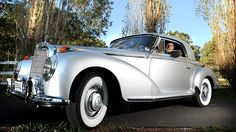 Adelaide Hills Mercedes-Benz collector John Whittaker with his 1950 Mercedes-Benz 300S.