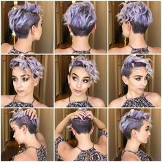 Today we have the most stylish 86 Cute Short Pixie Haircuts. We claim that you have never seen such elegant and eye-catching short hairstyles before. Pixie haircut, of course, offers a lot of options for the hair of the ladies'… Continue Reading → Short Pixie Haircuts, Pixie Hairstyles, Pretty Hairstyles, Short Hair Cuts, Pixie Cuts, Short Hair With Undercut, Girls Shaved Hairstyles, Brown Hairstyles, Haircut Short