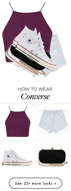 """""""Classy"""" by tinamuffinv on Polyvore featuring Zara, Topshop and Converse"""
