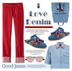 """All Denim, Head to Toe"" by helenevlacho ❤ liked on Polyvore featuring Être Cécile, prAna, Jeffrey Campbell, Topshop, Diesel, contestentry and alldenim"