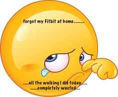 forgot fitbit at home.........