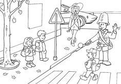 Escena trafico calle - Dibujalia - Dibujos para colorear - Profes ...