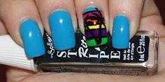 Princess Polish: Swatch and Review: It's So Easy Saturday - Miami Stripes