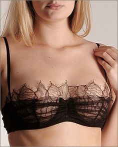 La Perla Black Label | La Perla Black Label: Pizzo Tulle Strapless Bra review…