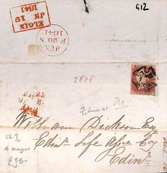 G12 1841 Edinburgh/4 margin SG 7 in Stamps, Great Britain, Covers | eBay