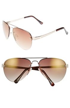 38ffa240eff Vince Camuto 62mm Aviator Sunglasses available at  Nordstrom Gold Aviator  Sunglasses