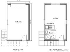 Two Story One Car Garage Apartment Historic Shed Garage Apartment Plans Garage Apartments Apartment Floor Plans