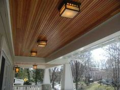 Tongue And Groove Front Porch Ceiling