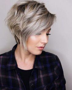 25 Grey Short Hairstyles for Women Easy Short Haircuts, Short Hairstyles For Thick Hair, Long Layered Haircuts, Haircut For Thick Hair, Short Hair With Layers, Short Hair Cuts For Women, Cool Hairstyles, Short Hair Styles, Layered Hairstyles