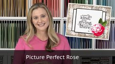 Video tutorial featuring a beautiful rose from the Stampin Up Picture Perfect Stamp set. The Textured background is from Timeless textures stamp set also fro...