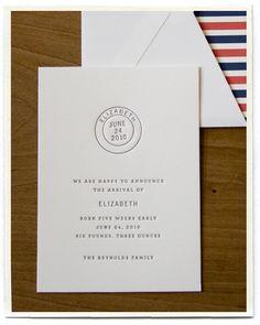 letterpress-postal-theme-striped-birth-announcements
