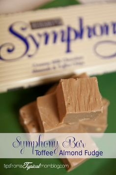 Symphony Bar Toffee Almond Fudge Recipe.  Your kids will love breaking up the chocolate bar and cutting up the butter to help you out with this recipe!