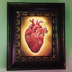 """Heart. Oil on board. 8""""X 10"""""""