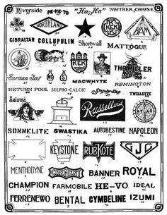 MR. MULE's TYPOGRAPHIC SHOWROOM AND EMPORIUM: Vintage Logos