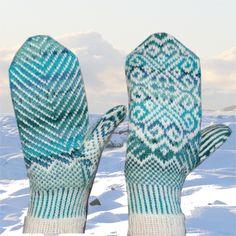 Klikk for å lukke bildet Knitting Charts, Knitting Stitches, Knitting Yarn, Knitting Patterns, Mittens Pattern, Knit Mittens, Knitted Gloves, Yarn Projects, Knitting Projects