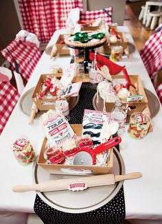 A Modern Italian Little Chef Pizza Party: We love these pizza making kits for each guest!