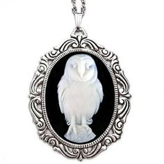 Owl Necklace now featured on Fab. [Owl stuff always makes me think of my friend Carol]