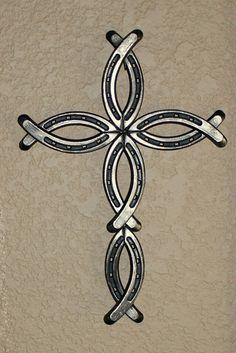 Horseshoe Cross by BobbinsAndPurls on Etsy