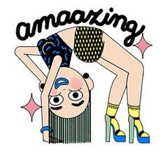 Free Fashion Girls Line Sticker - https://www.line-stickers.com/fashion-girls/