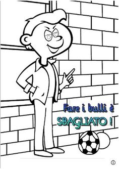 No al bullismo - Ebook da colorare per la scuola primaria - SCARICALO… Smurfs, Education, School, Fictional Characters, Ideas, Creativity, Schools, Teaching, Fantasy Characters