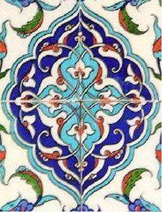 Stage - General - - The İznik Tiles and Ceramics Tile Art, Mosaic Art, Mosaic Tiles, Turkish Art, Turkish Tiles, Islamic Tiles, Islamic Art, Blue Pottery, Arabic Art