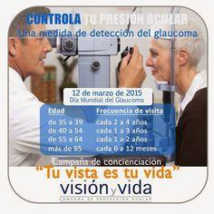CENTRO ÓPTICO Juan Ramón TENA: Google+ Mañana es el día del #Glaucoma. Revisa tu presión ocular, por favor.