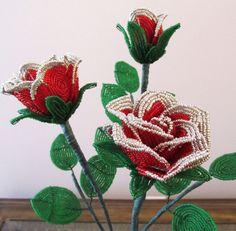 French beaded flower (Christmas Roses )