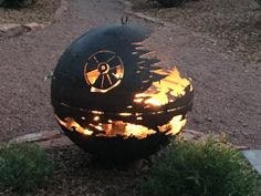 Purchase your own Death Star Fire Pit!  These are made by my 85 year old grandpa, who is a retired welder and Marine veteran of the Korean War. He is selling these to supplement their income, and a portion of each sale goes towards helping his grandkids with college costs. He loves that people are interested in something he started doing as a hobby, and your feedback and positive reviews are so meaningful to him! Thanks for looking, and please contact me if you would like to place an order…