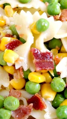 Easy Bacon Pea Pasta Salad Simple and versatile recipe for Easy Bacon Pea Pasta Salad. - Easy Bacon Pea Pasta Salad ~ The perfect pasta salad for a crowd that everyone will love! Salads For A Crowd, Food For A Crowd, Easy Summer Meals, Summer Recipes, Healthy Summer, Summer Food, Summer Picnic, Healthy Recipes, Cooking Recipes