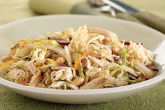 In this recipe, ramen noodle soup mix is combined with coleslaw to make a crunchy Chinese Chicken Noodle Salad. Not to toot our own horn, but…beep beep!