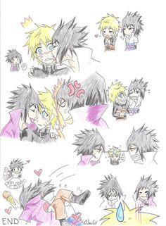 menma x sasuke hard Sasunaru, Naruto Uzumaki Shippuden, Naruto Kakashi, Boruto, Naruto And Sasuke Kiss, Comic Naruto, Naruto Fan Art, Naruto Anime, Naruto Cute