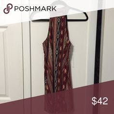 Aztec print dress Never worn, in perfect condition. High neck beautiful dress. Bought from local boutique Molly and Zoey. *LF for exposure* LF Dresses Mini
