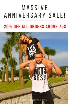 Do not miss these→ CouplesChoices.com/The Boss & The Real Boss Shirts are Back in Stock 🔥 Express your love in a meaningful way 🎁