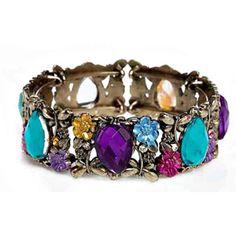 Multi shape Bracelet - Elegant high quality bead work on Copper Metal.