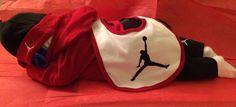 NWOT Nike Air Jordan Diaper Cake Baby Dressed in 5 Pc Outfit Boy/Girl Low Ship