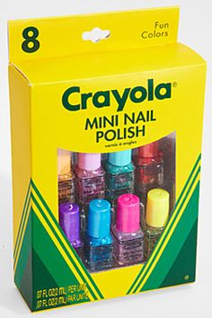 First Look: Crayola Mini Nail Polish Set