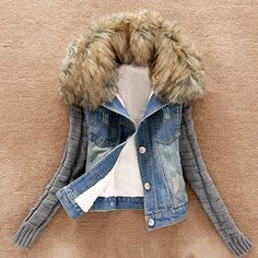 9d544657aa84b Jushye Hot Sale !!! Women's Winter Coat, Ladies Warm Jeans Jacket Coats  Button