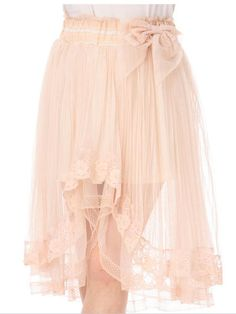 Japanese Irregular Lace Gauze Skirt Free shipping -himifashion