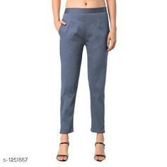 Trousers & Pants Trendy Women's Cotton Pant Fabric: Cotton Size: M - 30 in L - 32 in XL - 34 in XXL - 36 in XXXL - 38 in Length: Up To 38 in Type: Stitched Description: It Has 1 Piece Of Pant Pattern: Solid Country of Origin: India Sizes Available: S, M, L, XL, XXL, XXXL   Catalog Rating: ★3.9 (503)  Catalog Name: Diva Trendy Women's Cotton Pants Vol 1 CatalogID_158375 C79-SC1034 Code: 753-1251667-