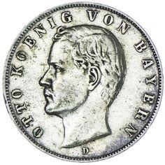 Bayern, Otto 1886 - 1913  3 Mark 1910 D, Silber