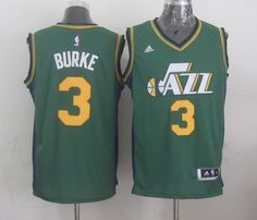 Utah Jazz #3 Trey Burke Revolution 30 Swingman 2014 New Green Swingman Jersey