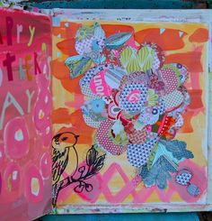 journaling,paper collage by Pam Garrison - http://www.pamgarrison.typepad.com/