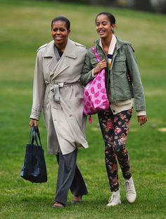 Mrs.O & daughter Malia Obama