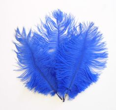 SALE Royal Blue Ostrich Feathers WAS 4.50 by simplysilverbyheena