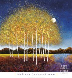 Evening Stream Art Print by Melissa Graves-Brown at Art.com