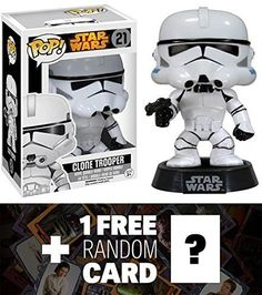 Clone Trooper Funko POP x Star Wars Vinyl BobbleHead Figure w Stand  1 FREE Official Star Wars Trading Card Bundle 60381 >>> Visit the image link more details. (This is an affiliate link) #Marvel