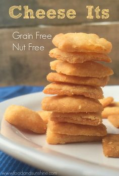 Grain Free Nut Free Cheese Its made with Otto's Naturals Cassava Flour (Gluten Free, Primal) | Food and Sunshine