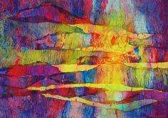 "Lynda Hoffman-Snodgrass featured in"" Artist Spotlight"" of Nov 2015 Spirit of Experimental Art Newsletter - more info at blog .. ""Pagoda"" watercolor by Lynda Hoffman-Snodgrass"