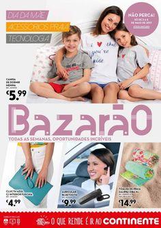 Folheto #Continente #Bazarão promoções em vigor a partir 02 Maio. Dia da mãe acessórios praia e tecnologia.