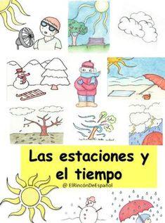 Bundle: Las Estaciones y el Tiempo Learning Styles, Learning Tools, Color Games, Preschool Learning Activities, Memory Games, Vocabulary Words, School Classroom, Teacher Resources, Booklet